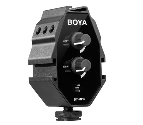 Boya BY-MP4 2-Channel Audio Adapter w/3.5mm TRRS Cable