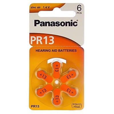 Panasonic PR48 6Pk Hearing Aid Battery