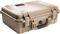 Pelican 1500 Desert Tan Case with Padded Dividers