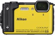 Nikon Coolpix W300 Yellow Digital Compact Camera w/Black Silicone Jacket