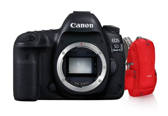 Canon EOS 5D Mark IV Body Digital SLR Camera w/Bonus Red Crumpler Backpack