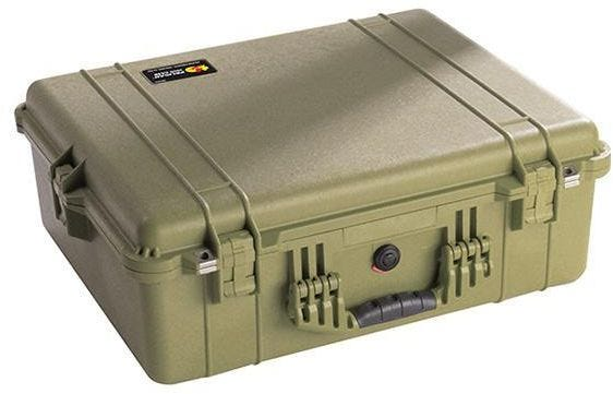 Pelican 1600 Olive Green Case with Padded Dividers