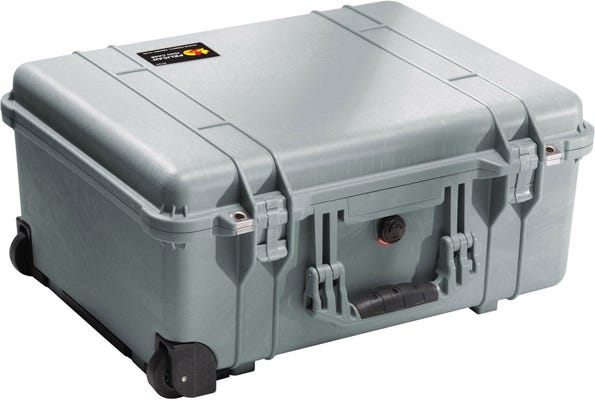 Pelican 1560 Silver Case with Papped Dividers