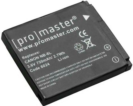 ProMaster Canon NB-8L Battery