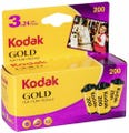 Kodak GB Gold 200 ISO 35mm 24 Exposure (3 Pack)