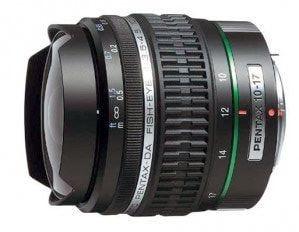 Pentax DA 10-17mm f/3.5-4.5 ED IF Fisheye Lens
