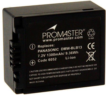 ProMaster Panasonic DMW-BLB13 Battery
