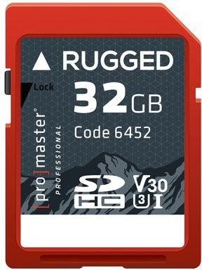 ProMaster SDHC Rugged 32GB 660X / 99MB/s UHS-1 U3 V30 Professional Memory Card