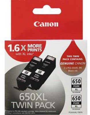 Canon 2 x PGI650XLBK Twin Pigment Black XLarge Ink Tank