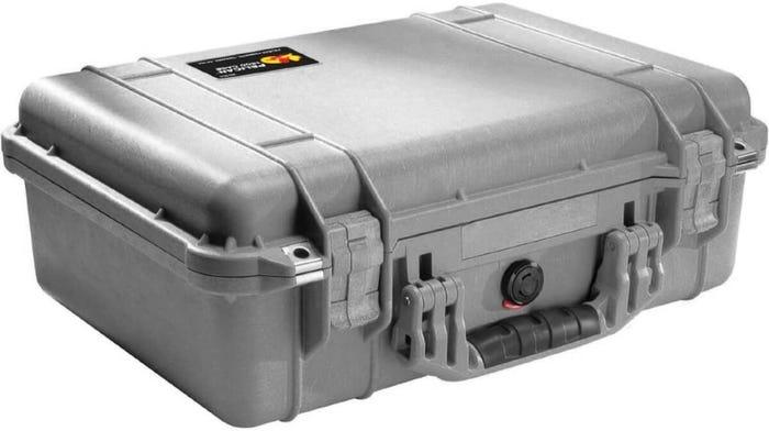 Pelican 1500 Silver Case with Foam