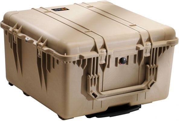 Pelican 1640 Desert Tan Transport Case with Foam