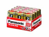 Panasonic 9V 12 Pack Alkaline Battery