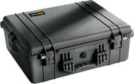 Pelican 1600 Black Case with Padded Dividers