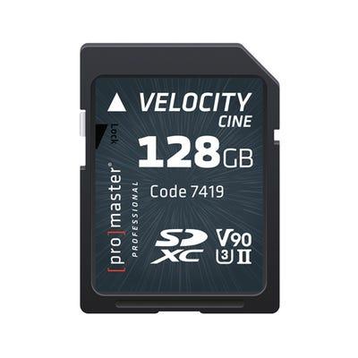 ProMaster SDXC Velocity CINE 128GB - V90 Video Speed Class 2000x 300MB/s UHS-II U3