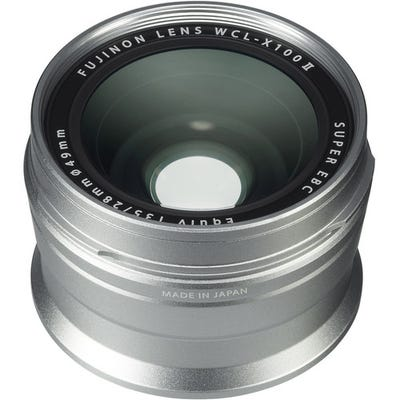 FujiFilm WCL-X100 II Wide Converssion Lens Silver