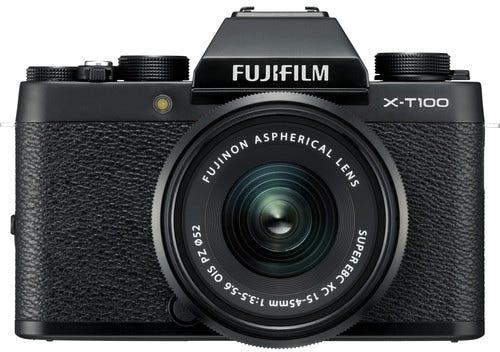 FujiFilm X-T100 Black w/XC 15-45mm f/3.5-5.6 OIS PZ Lens Compact System Camera