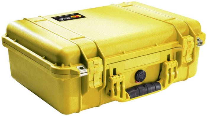 Pelican 1500 Yellow Case with Foam