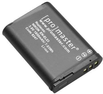 ProMaster Nikon EN-EL23 Battery