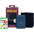 Fujifilm Instax Share MiniLink Instant Printer BUNDLE - Dark Denim (20 pack Film & Case)
