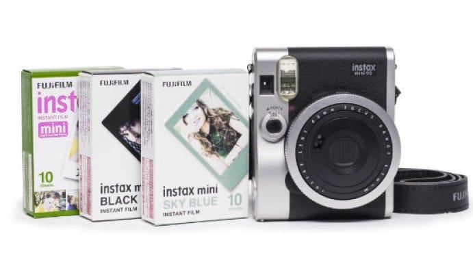 Fujifilm Instax Mini 90 NEO Classic Instant Camera - Triple Film Kit (Black)