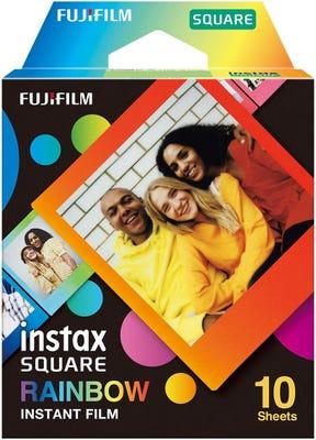 Fujifilm Instax Square Rainbow - Instant Film (10 Sheets)