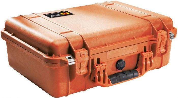 Pelican 1500 Orange Case with Foam
