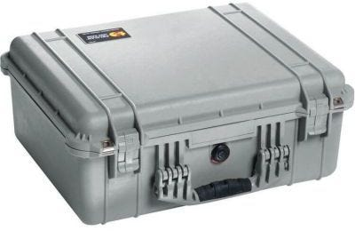Pelican 1550 Silver Case with Padded Dividers
