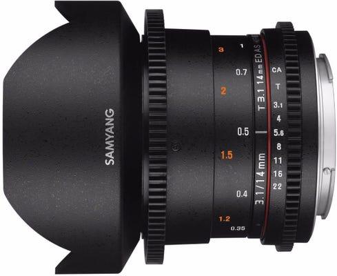 Samyang 14mm T3.1 VDSLR Canon EOS Full Frame Lens
