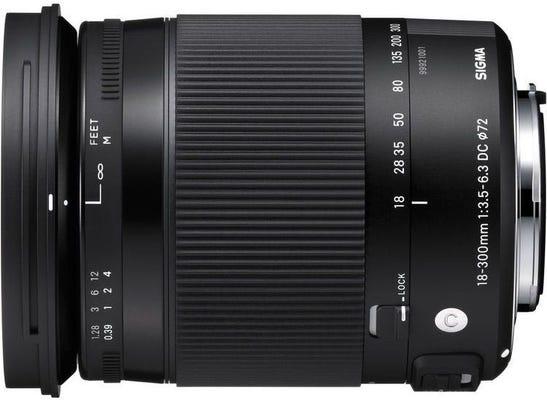 Sigma 18-300mm f/3.5-6.3 DC OS Macro HSM Contemporary Lens - Canon