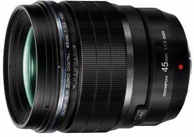 Olympus M.Zuiko PRO 45mm f/1.2 Black Lens