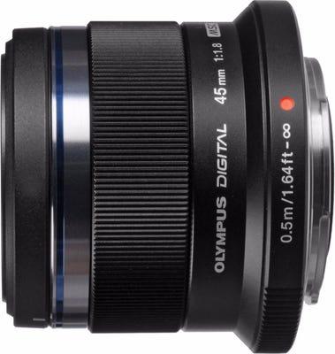 Olympus M.Zuiko 45mm f/1.8 Black Portrait Lens