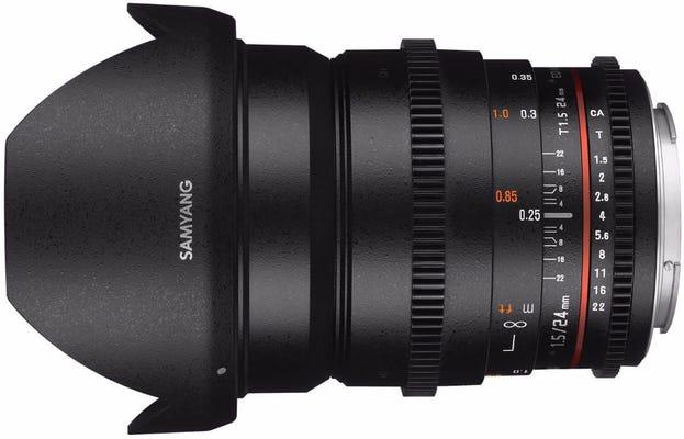 Samyang 24mm T1.5 VDSLR Canon EOS Full Frame