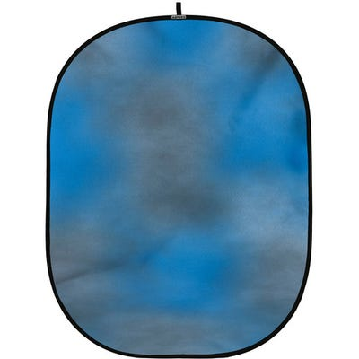 ProMaster Solid Pop-Up Background 6'x7' Dual Sided - Blue/Grey