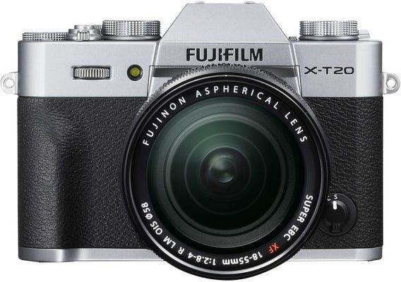 FujiFilm X-T20 Body - Silver w/ XF18-55mm Lens Compact System Camera