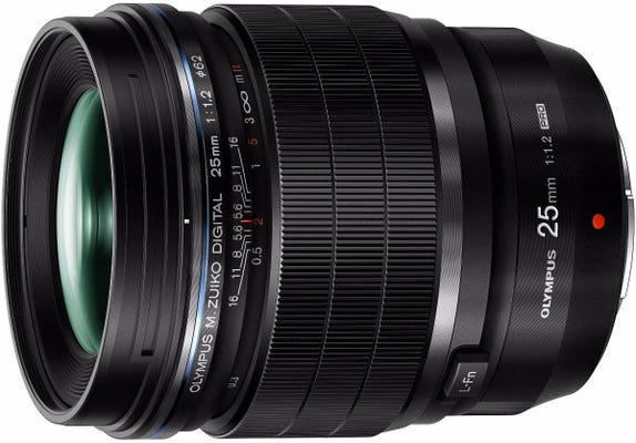 Olympus M.Zuiko Pro 25mm f/1.2 Black Lens