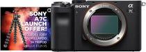 Sony Alpha A7C Black Compact System Camera (Body Only) w/ Joby GorillaPod 3K Tripod Kit
