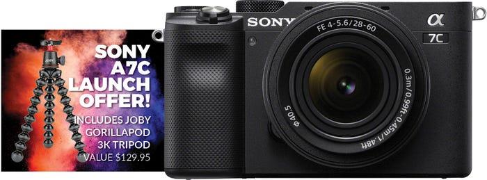 Sony Alpha A7C Black Body w/ 28-60mm f/4-5.6 Lens CS Camera w/Joby Gorillapod 3K Tripod Kt