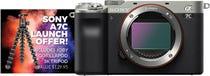 Sony Alpha A7C Silver Compact System Camera (Body Only) w/ Joby Gorillapod 3K Tripod Kit
