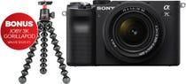 Sony Alpha A7C Black Body w/28-60mm f/4-5.6 Lens & Bonus Gorrillapod Tripod CS Camera