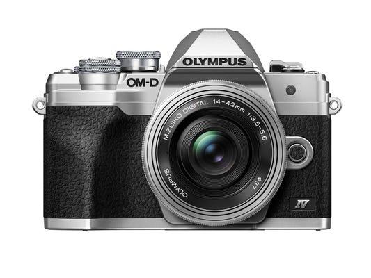 Olympus OM-D E-M10 Mark IV Silver Body w/14-42mm EZ Lens Compact System Camera