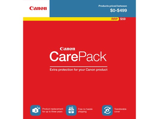 Canon Care Pack ($0-$499) Extended Warranty