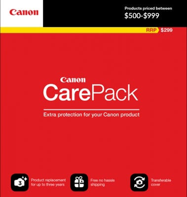 Canon Care Pack ($500-$999) Extended Warranty