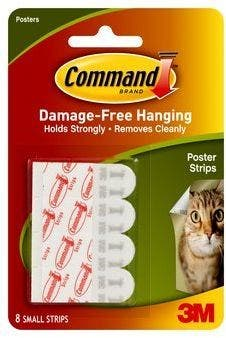 3M Command Poster Strips 12pk - 17024