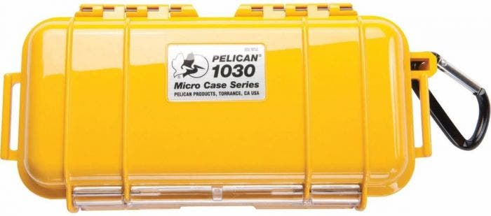 Pelican 1030 Micro Case - Yellow with Black Liner