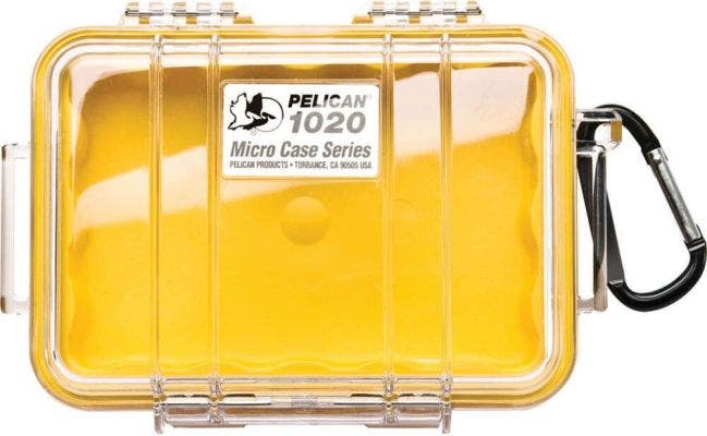 Pelican 1020 Micro Clear Case - Yellow with Yellow Liner