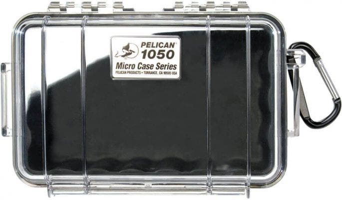 Pelican 1050 Micro Clear Case with Black Liner