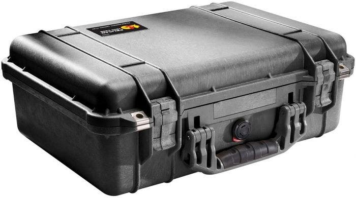 Pelican 1500 Black Case with Padded Dividers