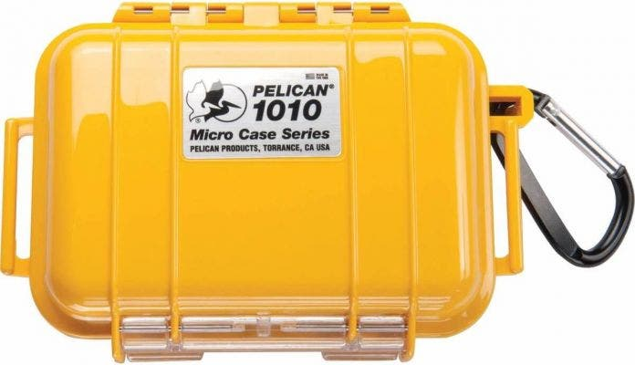 Pelican 1010 Micro Case - Yellow with Black Liner