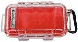 Pelican 1015 Micro Clear Case - Red with Red Liner
