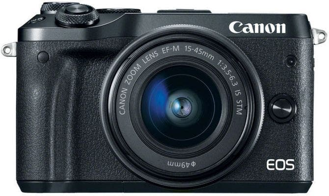 Canon EOS M6 Black w/EF-M 15-45mm & EF-M 55-200mm Lens Compact System Camera